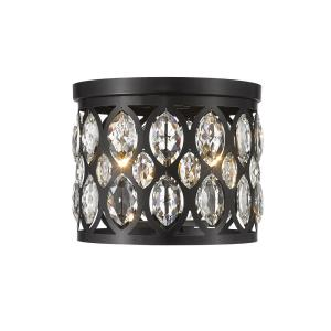 Dealey - 3 Light Flush Mount in Metropolitan Style - 12 Inches Wide by 9.75 Inches High
