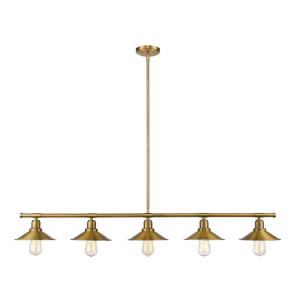 Casa - 5 Light Island/Billiard in Utilitarian Style - 8 Inches Wide by 9 Inches High