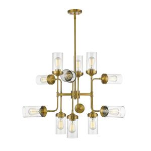 Calliope - 12 Light Pendant in Industrial Style - 36 Inches Wide by 27.75 Inches High
