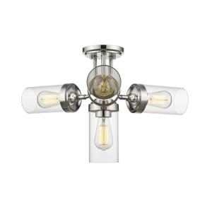 Calliope - 4 Light Semi-Flush Mount in Contemporary Style - 22.5 Inches Wide by 13.75 Inches High