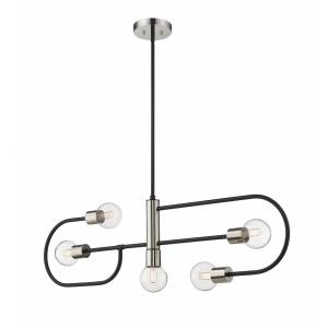 Neutra - 5 Light Island/Billiard in Linear Style - 6 Inches Wide by 14.25 Inches High