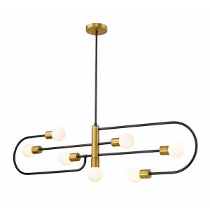Neutra - 7 Light Island/Billiard in Linear Style - 6 Inches Wide by 16 Inches High