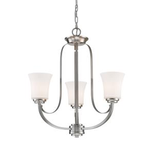 Halliwell - 3 Light Chandelier in Fusion Style - 22 Inches Wide by 23.5 Inches High