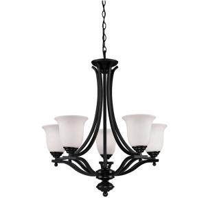 Lagoon Chandelier 5 Light  Steel