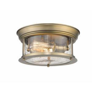 Sonna - 2 Light Flush Mount in Seaside Style - 11 Inches Wide by 5.5 Inches High