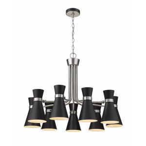 Soriano - 9 Light Chandelier in Period Inspired Style - 32 Inches Wide by 23.75 Inches High