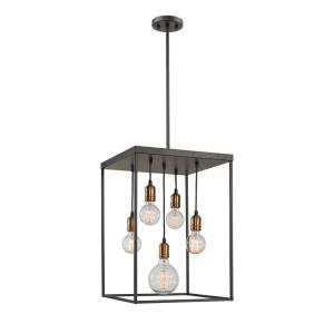 Troubadour - 5 Light Pendant in Architectural Style - 16 Inches Wide by 23 Inches High