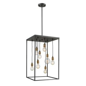 Troubadour - 8 Light Pendant in Architectural Style - 20 Inches Wide by 32 Inches High