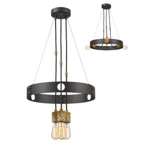 Troubadour - 3 Light Chandelier in Architectural Style - 18 Inches Wide by 2.5 Inches High