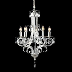 Parisian Crystal Chand. - 5 Light Crystal Chandelier