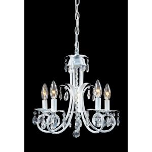 Pearl Crystal Chandelier 5 Light  Steel