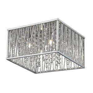 Terra - 4 Light Flush Mount in Metropolitan Style - 11.81 Inches Wide by 7.09 Inches High