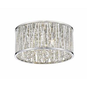 Terra - 3 Light Flush Mount in Metropolitan Style - 12 Inches Wide by 6 Inches High