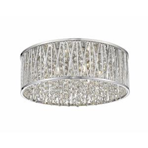 Terra - 6 Light Flush Mount in Whimsical Style - 15.75 Inches Wide by 6.5 Inches High