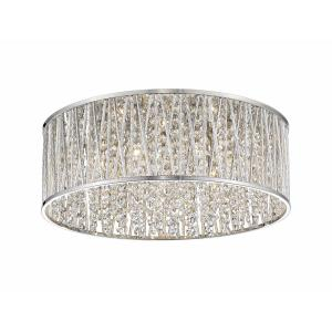 Terra - 7 Light Flush Mount in Whimsical Style - 19 Inches Wide by 7.25 Inches High