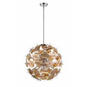 Branam - 9 Light Pendant in Retro Style - 24.75 Inches Wide by 24.75 Inches High
