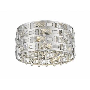 Aludra - 4 Light Flush Mount in Metropolitan Style - 12.25 Inches Wide by 7 Inches High