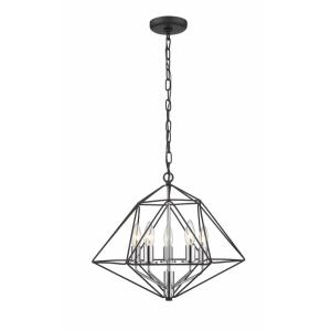 Geo - 5 Light Chandelier in Geometric Architectural Style - 18 Inches Wide by 15 Inches High
