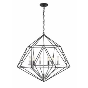 Geo - 6 Light Chandelier in Tiffany Style - 30 Inches Wide by 26.5 Inches High