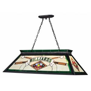 Tiffany - 4 Light Island/Billiard in Victorian Style - 18.5 Inches Wide by 13 Inches High