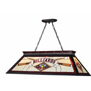 Tiffany - 4 Light Island/Billiard in Seaside Style - 18.5 Inches Wide by 13 Inches High