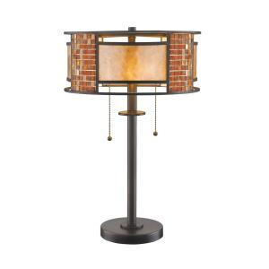 Parkwood 2 Light Table Lamp Metal Base/Glass Base