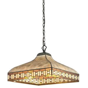 Crimson - 3 Light Pendant in Tiffany Style - 17 Inches Wide by 12.5 Inches High