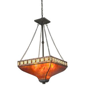 Crimson - 3 Light Pendant in Tiffany Style - 17 Inches Wide by 32.5 Inches High
