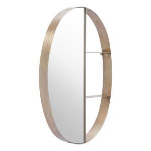 Latitude - 33.9 Inch Oval Shelf Mirror